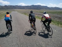 Three riders between the mining town of Eureka and Nephi.