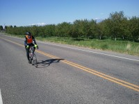 Daniel cruising along the quiet orchard roads, south of Utah Lake.