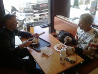 John &amp; his brother Peter, sharing a quality mexican meal in Nephi (better than Cafe Rio John said).