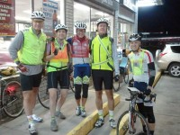 Gerry, Jackie, Catherine, David and Nick at the start.