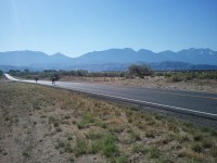 Recumbents on the road, on the final day of the 600k, just outside of Goshen.