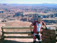 Christopher at Grand View Point in Canyonlands.