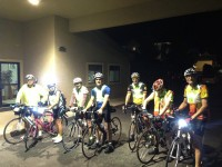 The start line at the motel at 05:00.