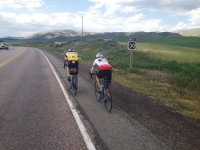 Carlton & Kerin, between Montpelier & Soda Springs. Wide shoulder and so green!